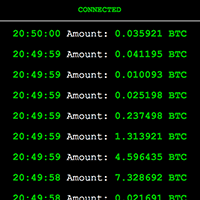 Real-time Bitcoin transactions